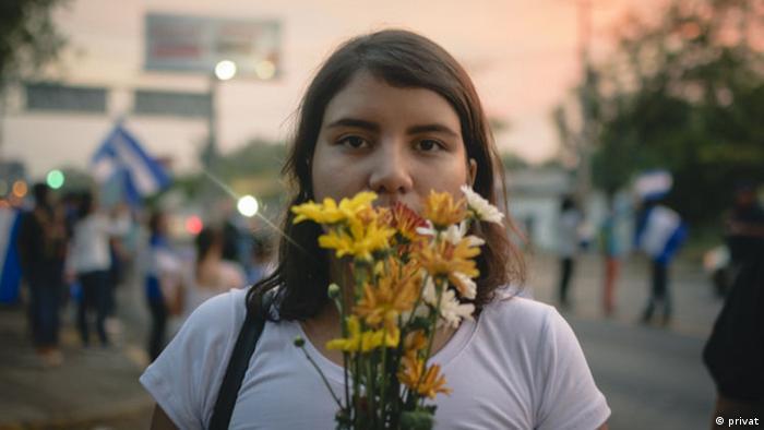 Oppositionelle Studentin Madelaine Caracas aus Nicaragua