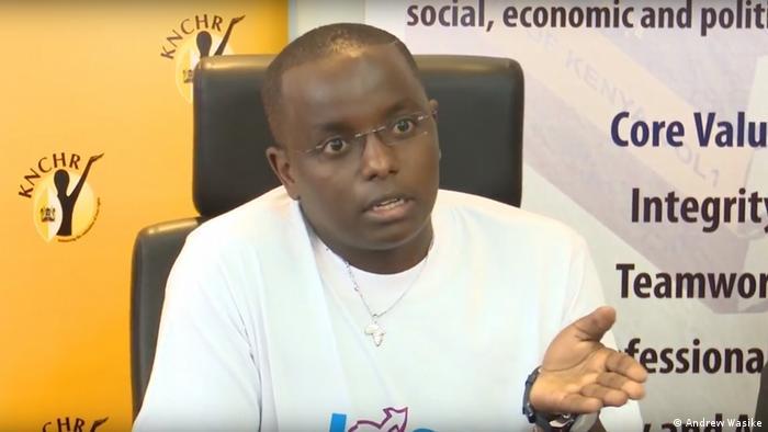 James Karanja addressing a conference in Kenya