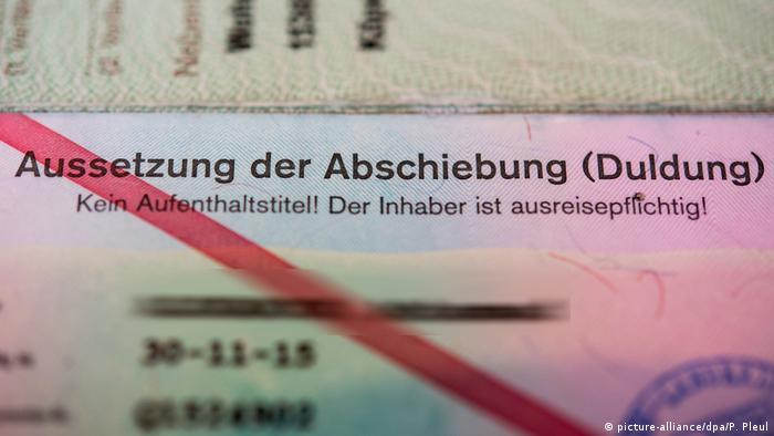Deutschland Ausweis für Asylbewerber