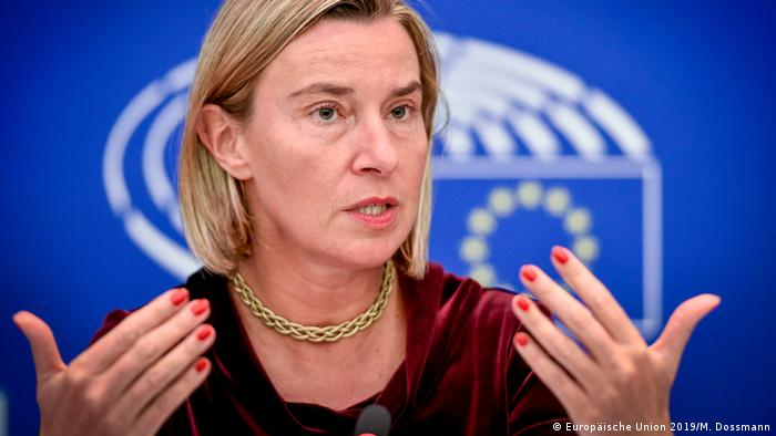 Die EU-Außenbeauftragte Federica Mogherini verlangt eine Rechtfertigung für diesen weitreichenden Beschluss (Foto: Europäische Union 2019/M. Dossmann)
