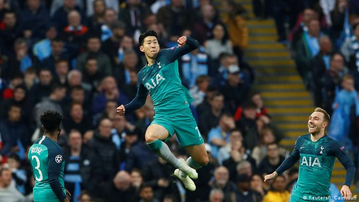 Champions League - Manchester City vs. Tottenham Hotspur (Reuters/J. Cairnduff)