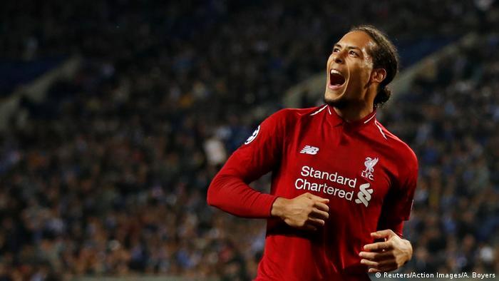 Virgil van Dijk came in second in FIFA's Best awards