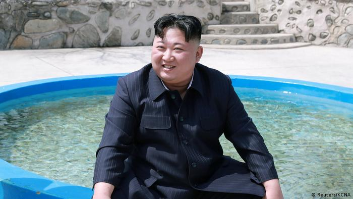 North Korean leader Kim Jong Un visits the Shinchang Fish Farm (Reuters/KCNA)