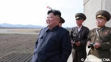 Nordkorea Kim Jong Un besucht Flugtraining der Korean People's Army Air Force (Reuters/KCNA)