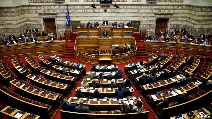 Griechenland Parlament in Athen Abstimmung Reparationsforderungen an Deutschland Alexis Tsipras