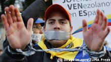 Spanien Madrid - Proteste gegen Zensur in Venezuela