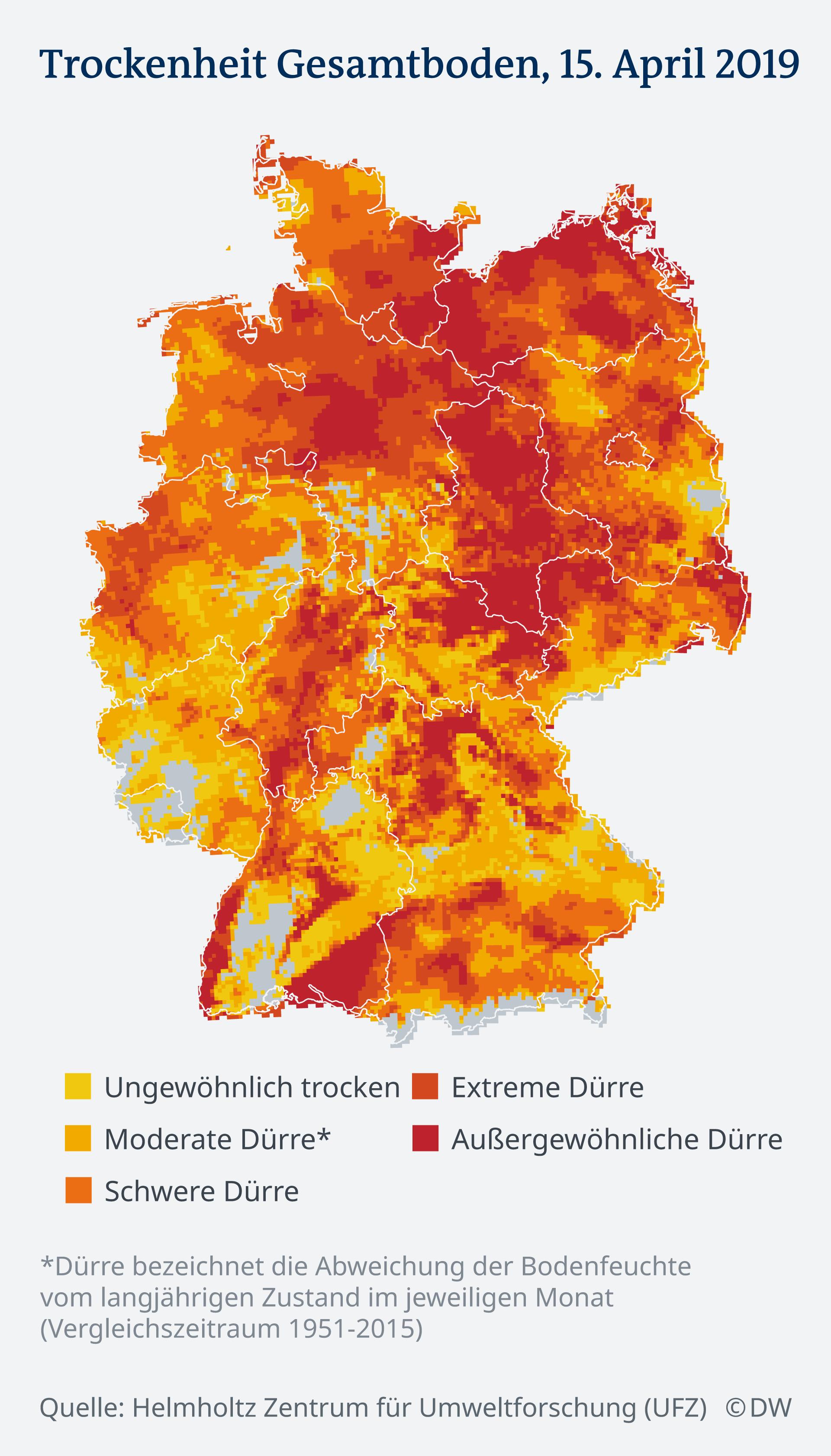 Regenprognose Deutschland