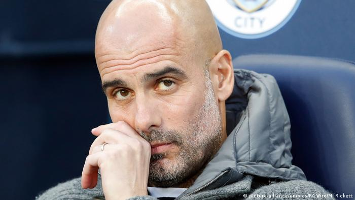 Manchester City Trainer Pep Guardiola (picture-alliance/empics/PA Wire/M. Rickett)
