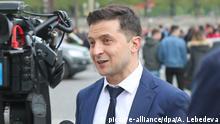 Ukraine Präsidentschaftskandidat Selenskyj in Paris
