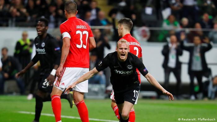 Fußball UEFA Europa League | Eintracht Frankfurt - Benfica Lissabon | Torjubel (1:0)
