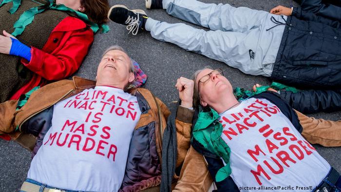 Manifestación de Extintion Rebellion en Nueva York.