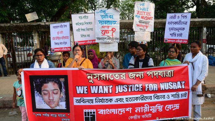 Bangladesh | Demostranten fordern Gerechtigkeit für die ermordete Teenagerin Nusrat Jahan Raafi