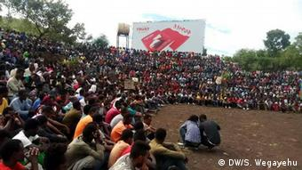 Äthiopien | streikende Arbeiter des Koysha Hydroelectric Kraftwerks