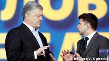 Ukraine Präsidentschaftswahl 2019 | vor Debatte - Anhänger Poroschenko