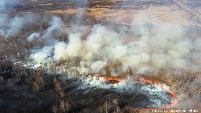 Russland: Steppenbrand in der Region Kemerovo