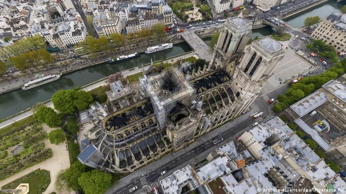 Notre Dame Cathedral after the fire