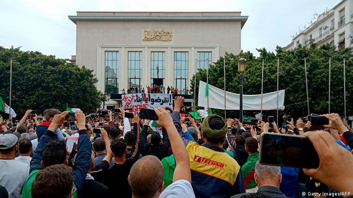 Protesters in Annaba, west of the Algerian capital