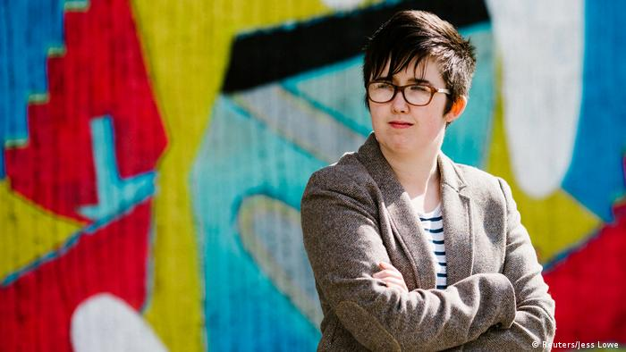 Journalist Lyra McKee poses for a portrait outside the Sunflower Pub on Union Street in Belfast (Reuters/Jess Lowe )