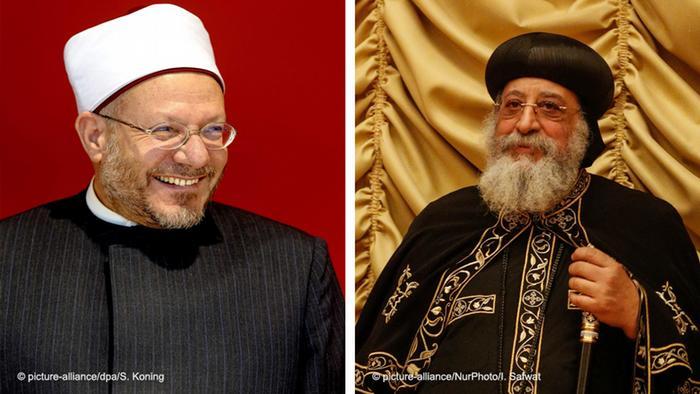 Kombobild Ägypten Shawki Ibrahim Abdel-Karim Allam und Tawadros II