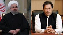 Hassan Rohani, iranischer Präsident (links) und Imran Khan Niazi, pakistanischer Ministerpräsident