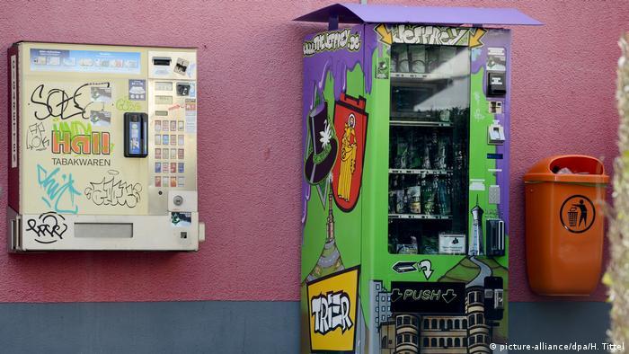 Первый в Германии торговый автомат с марихуаной в Трире
