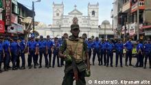Sri Lanka Colombo Militär nach Explosion vor St. Anthony's Kirche