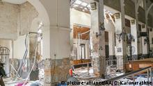 Sri Lanka Colombo Explosion in St. Anthony's Kirche