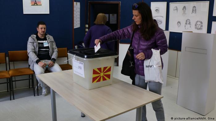 Nord-Mazedonien Skopje Präsidentschaftswahl