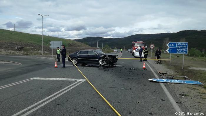 Bulgarien Kardzhali Unfall Lutvi Mestans Auto (DW/V. Bayryamova)