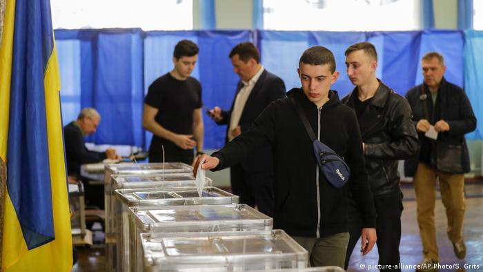 На избирательном участке в Киеве