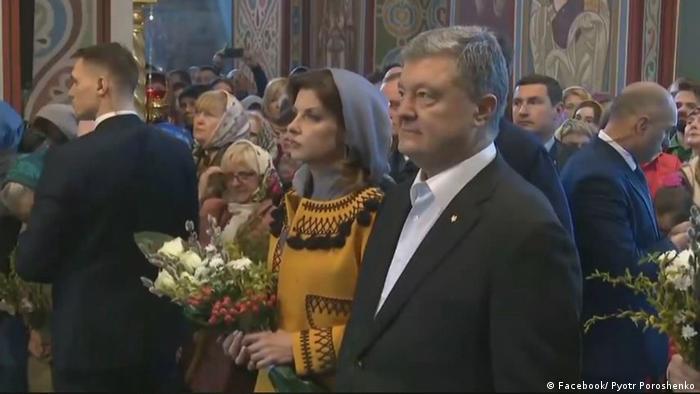 Президент Порошенко на молебне в день голосования