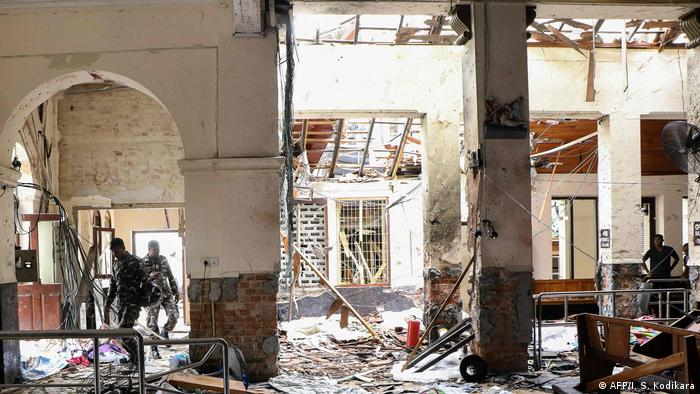 Sri Lanka Colombo Explosion in St. Anthony Kirche (AFP/I. S. Kodikara)