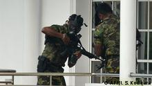 Sri Lanka Razzia der Special Task Force (STF) in Colombo