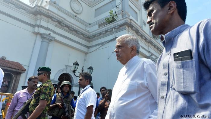 Sri Lanka Premierminister Ranil Wickremasinghe an der St. Anthony Kirche