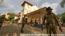Sri Lanka Colombo Explosion in St. Sebastian Kirche
