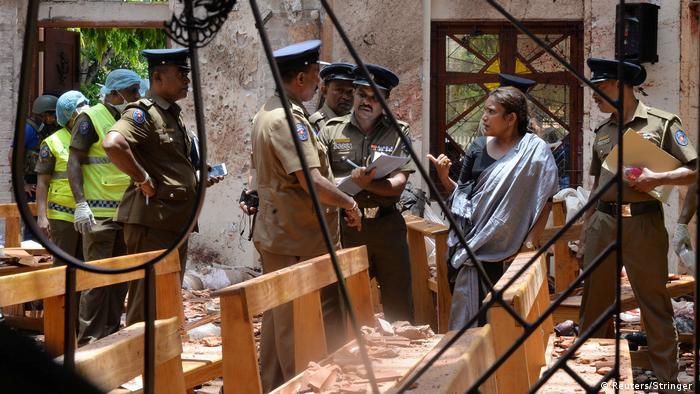 Sri Lanka Negombo Explosion in St. Sebastian Kirche