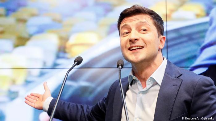 Ukraine | Präsidentschaftswahlen | Reaktion Wolodymyr Selenskyj (Reuters/V. Ogirenko)