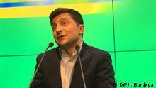 Ukraine | Präsidentschaftswahlen | Volodymyr Selenskyi bei seiner Pressekonferenz