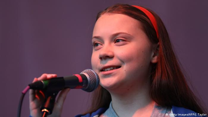 Greta Thunberg in London (Getty Images/AFP/J. Taylor)