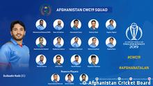 Afghanistan National Team squad for ICC Cricket World Cup 2019 (Afghanistan Cricket Board )