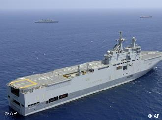 Mistral-class ship in water