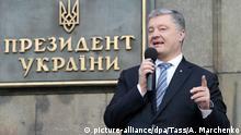 Ukraine | Kundgebung von Anhängern des abgewählten Präsidenten Petro Poroschenko in Kiew