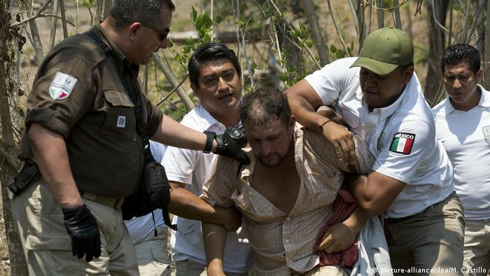 A Central American migrant is arrested