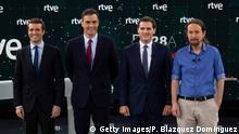 Spanien, Madrid: Debatte vor den Parlamentswahlen