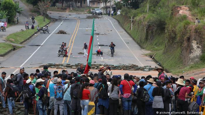 Manifestaciones de organizaciones indígenas y campesinas en Popayán, Colombia. (19.03.2019).