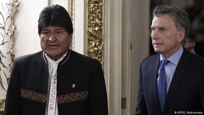 Argentinien Präsident Mauricio Macri trifft bolivianischen Präsident Evo Morales in Buenos Aires