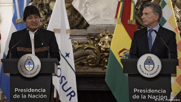 Evo Morales, presidente de Bolivia, y Mauricio Macri, de Argentina, buscan la reelección.