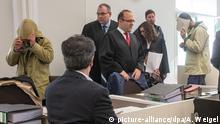 اولین جلسه دادگاه متهمان، آمبرگ، ۲۳ آوریل