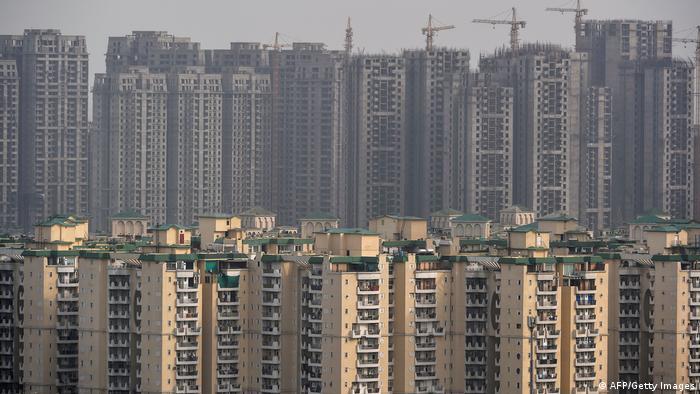 Indien Neudehli Wohnhäuser