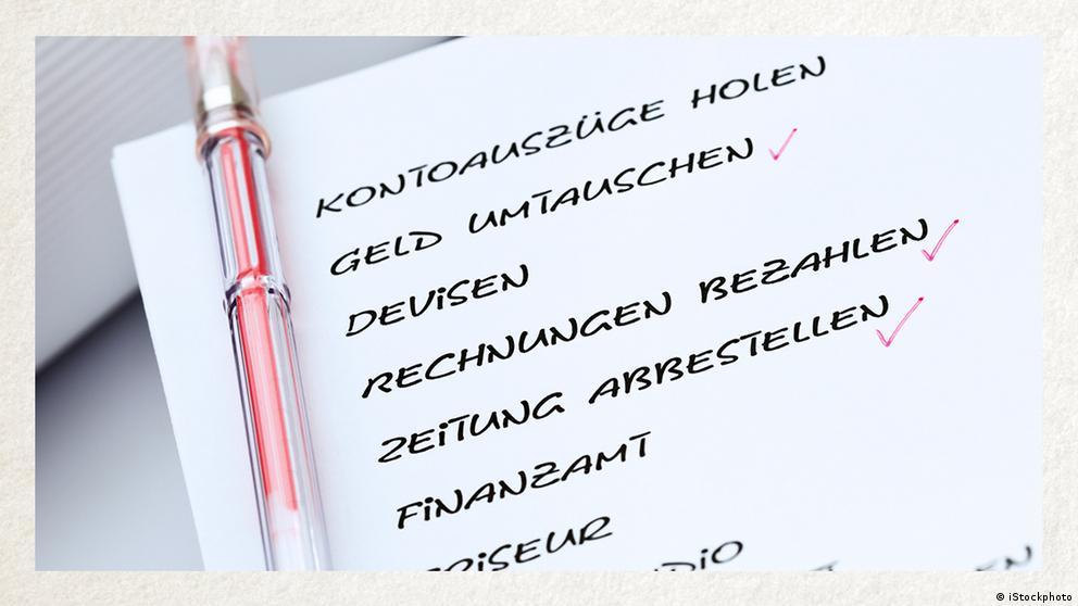 Deutschkurse   Wortschatz   WBS_Foto_erledigen